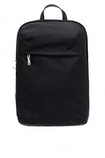 Черный текстильный рюкзак с нашивкой Prada
