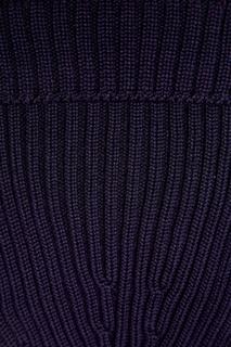 Синяя шерстяная шапка-бини Prada