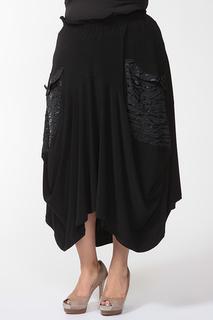 Асимметричная юбка со вставками Amazone