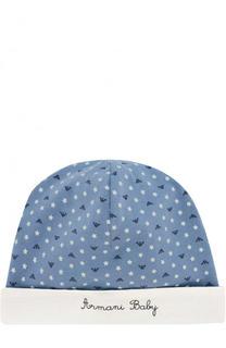 Хлопковая шапка с принтом Armani Junior