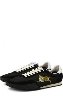 Комбинированные кроссовки на шнуровке Kenzo