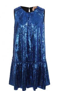 Мини-платье свободного кроя с пайетками No. 21