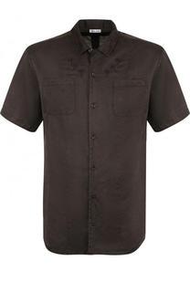 Рубашка с короткими рукавами из смеси шелка и хлопка Tomas Maier