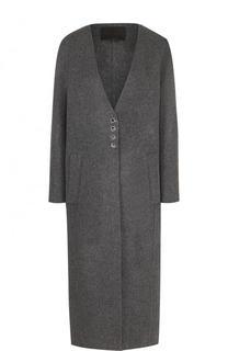 Пальто свободного кроя из смеси шерсти и кашемира Alexander Wang