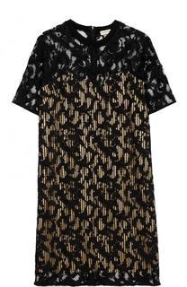 Кружевное мини-платье с коротким рукавом By Malene Birger