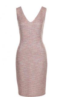Приталенное платье-миди с V-образным вырезом St. John