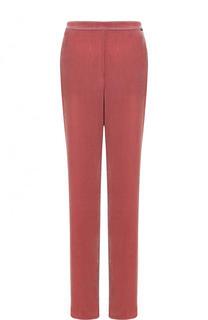 Однотонные бархатные брюки с эластичным поясом St. John