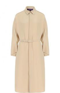 Шелковое платье-рубашка с поясом Ralph Lauren
