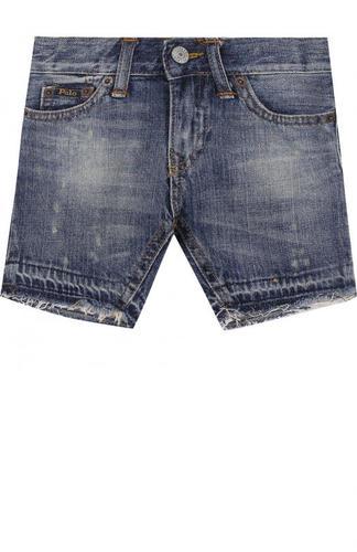 Джинсовые шорты с декоративными потертостями Polo Ralph Lauren