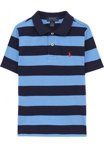 Хлопковое поло в полоску Polo Ralph Lauren