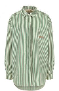 Хлопковая блуза свободного кроя в полоску Walk of Shame