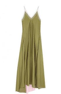 Шелковое платье-комбинация в горох Walk of Shame