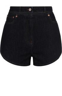 Джинсовые мини-шорты с контрастной отделкой Valentino