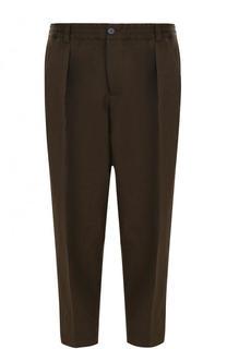Укороченные брюки свободного кроя с поясом на резинке Marni
