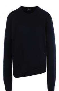 Однотонный кашемировый пуловер с круглым вырезом CALVIN KLEIN 205W39NYC
