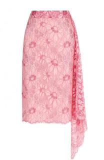 Кружевная юбка-миди асимметричного кроя CALVIN KLEIN 205W39NYC