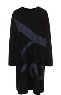 Хлопковое мини-платье свободного кроя Yohji Yamamoto