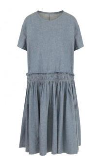 Платье свободного кроя из смеси льна и хлопка Yohji Yamamoto