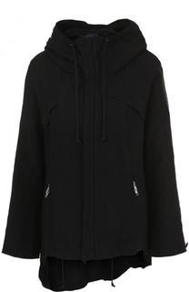 Однотонная льняная куртка с капюшоном Yohji Yamamoto