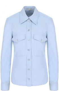Однотонная приталенная блуза с накладными карманами Stella McCartney
