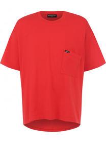 Хлопковая футболка свободного кроя Balenciaga
