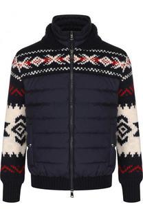 Шерстяная куртка на молнии с утепленной вставкой Polo Ralph Lauren