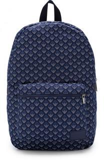 Текстильный рюкзак с принтом Armani Junior