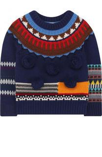Пуловер из шерсти и кашемира с помпонами Burberry