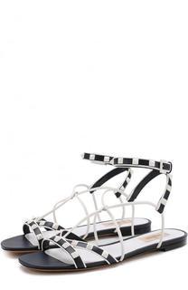 Кожаные сандалии Free Rockstud с ремешками Valentino