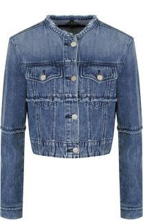 Укороченная джинсовая куртка с потертостями J Brand