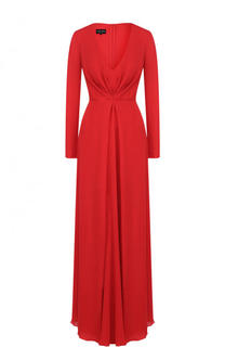 Шелковое платье-макси с драпировкой Giorgio Armani