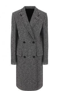 Шерстяное двубортное пальто Helmut Lang