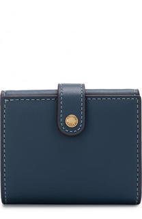 Кожаное портмоне с контрастной прострочкой Coach