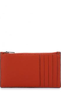 Кожаный футляр для кредитных карт с отделением на молнии Coach