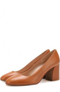 Кожаные туфли на устойчивом каблуке Tod's Tods