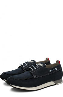 Кожаные кроссовки на шнуровке Kiton
