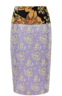 Жаккардовая юбка-миди Dries Van Noten