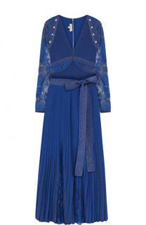 Вязаный комплект из боди и плиссированной юбки Elie Saab