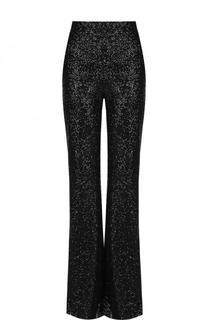 Однотонные расклешенные брюки с пайетками Elie Saab