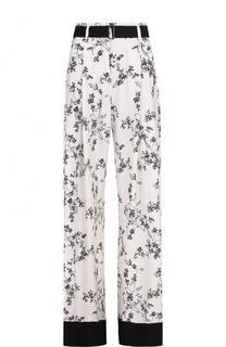 Расклешенные брюки с принтом и контрастным поясом Ann Demeulemeester