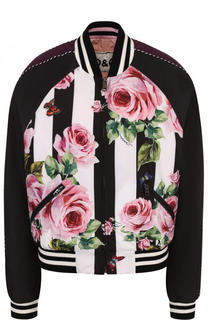 Двусторонний бомбер на молнии с принтом Dolce & Gabbana