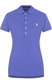 Хлопковое поло с вышитым логотипом бренда Polo Ralph Lauren