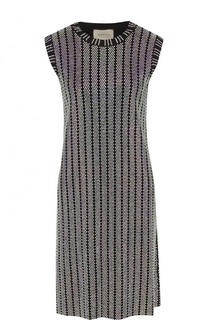 Приталенное мини-платье со стразами Gucci