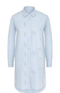 Однотонное хлопковое платье-рубашка 120% Lino