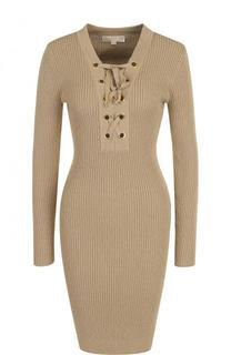 Вязаное платье-футляр со шнуровкой MICHAEL Michael Kors