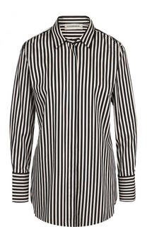 Хлопковая блуза свободного кроя в полоску By Malene Birger