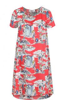 Мини-платье свободного кроя с принтом Blugirl