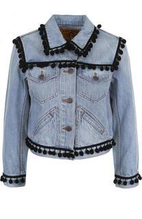 Джинсовая куртка с укороченным рукавом и потертостями Marc Jacobs