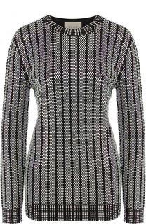 Пуловер с круглым вырезом и стразами Gucci