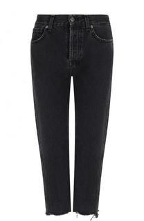 Укороченные джинсы с потертостями 7 For All Mankind